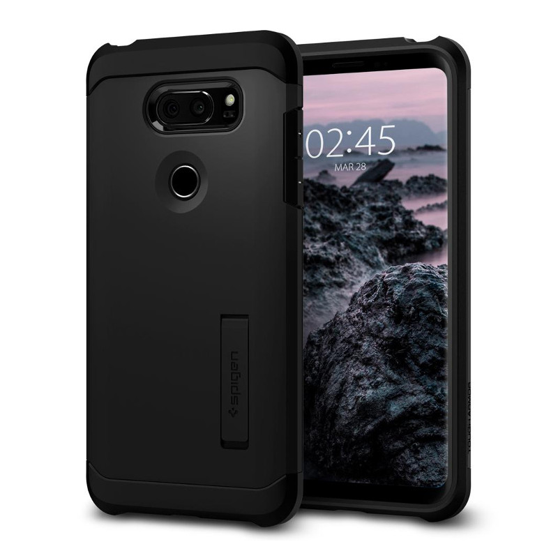Original Spigen Case LG V30 Tough Armor Black Retail
