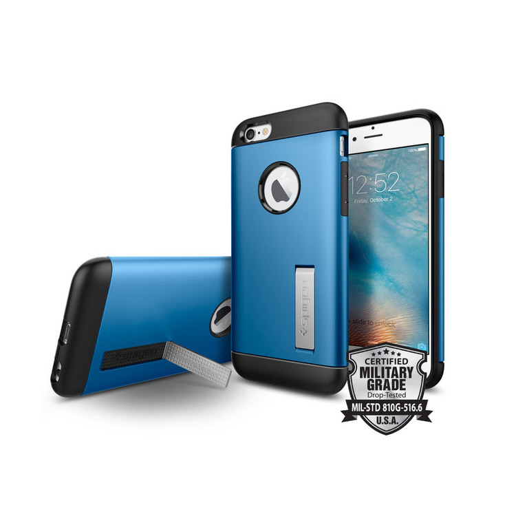 Original Spigen Case iPhone 6S Slim Armor Blue Retail