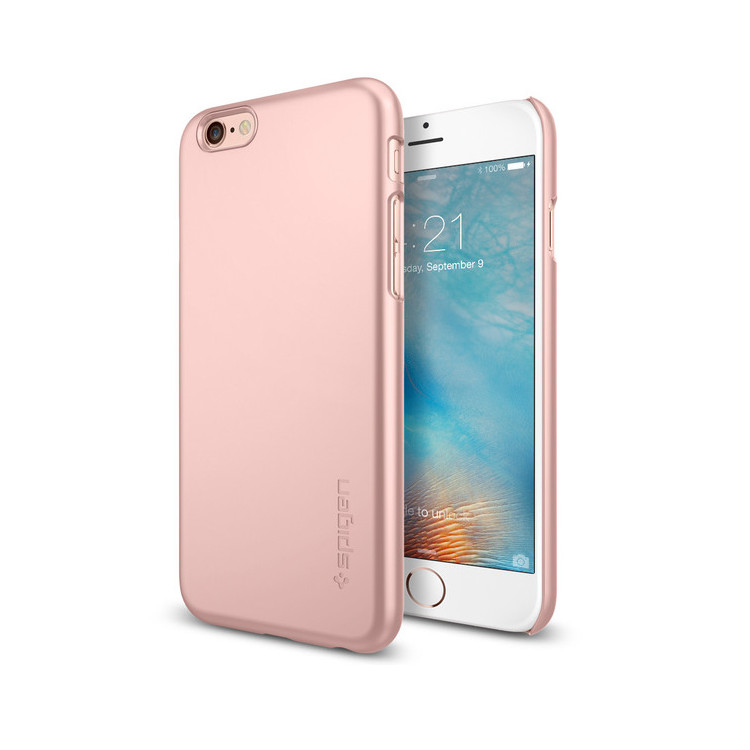 Original Spigen Case iPhone 6S Plus Thin Fit  Rose Gold Retail