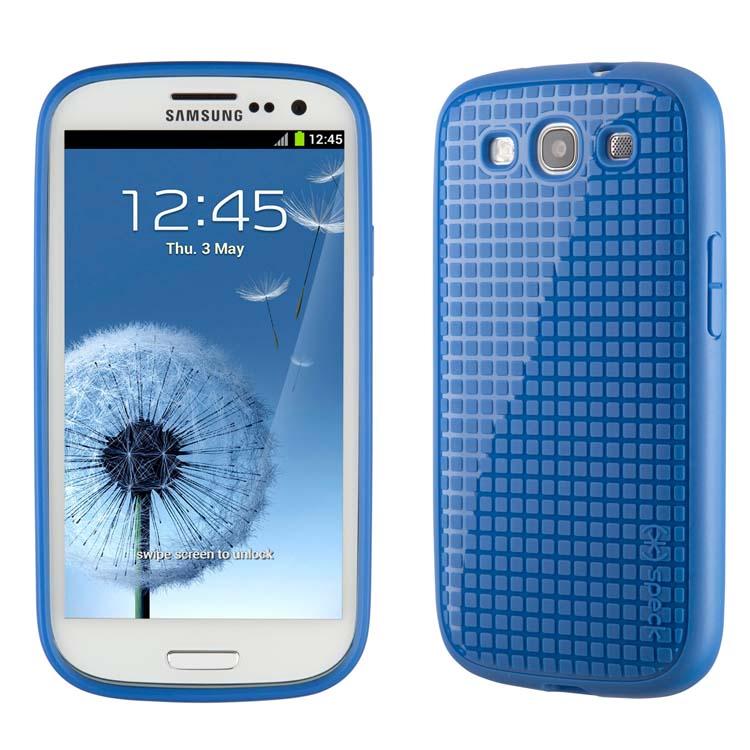Original Speck Case Pixel Skin HD Samsung Galaxy S3 Cobalt Retail