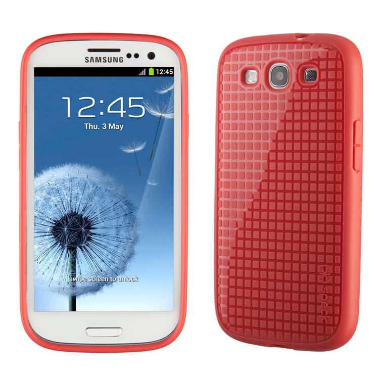Original Speck Case Pixel Skin HD Samsung Galaxy S3 Coral Retail
