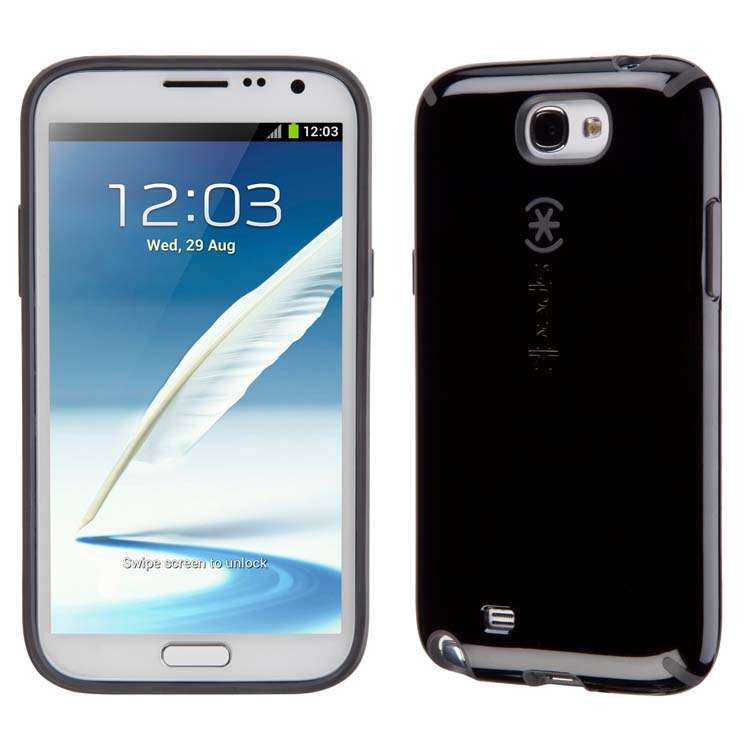 Original Speck Case Candy Shell Samsung Galaxy Note II Black/Slate Grey Retail