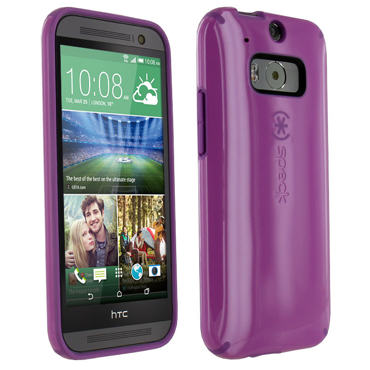 Original Speck Case CandyShell HTC One M8  Beaming Orchid Purple/Revolution Purple