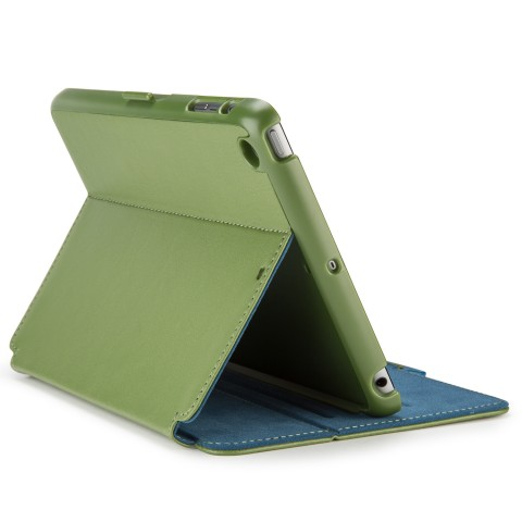 Original Speck Case  StyleFolio  iPad mini, 2 and 3 Moss Green / DeepSea Blue Retail With Sleep / Wake