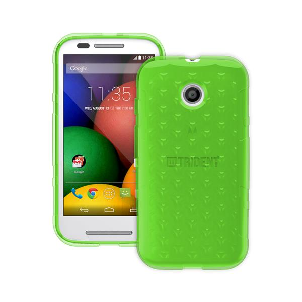Original Trident Case Perseus Gel Series Moto E Clear Green Retail