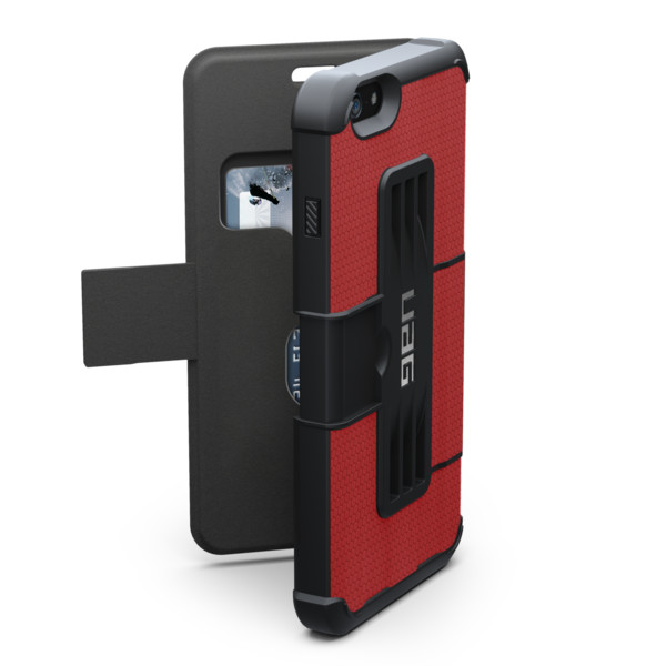 "Original UAG Case Rogue Folio  iPhone 6 Plus 5.5"" Magma Red Retail"