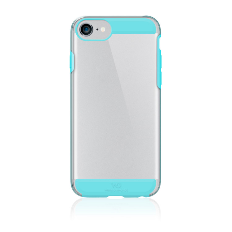 Original White Diamonds iPhone 7 Innocence Clear Case w/ California Turquoise