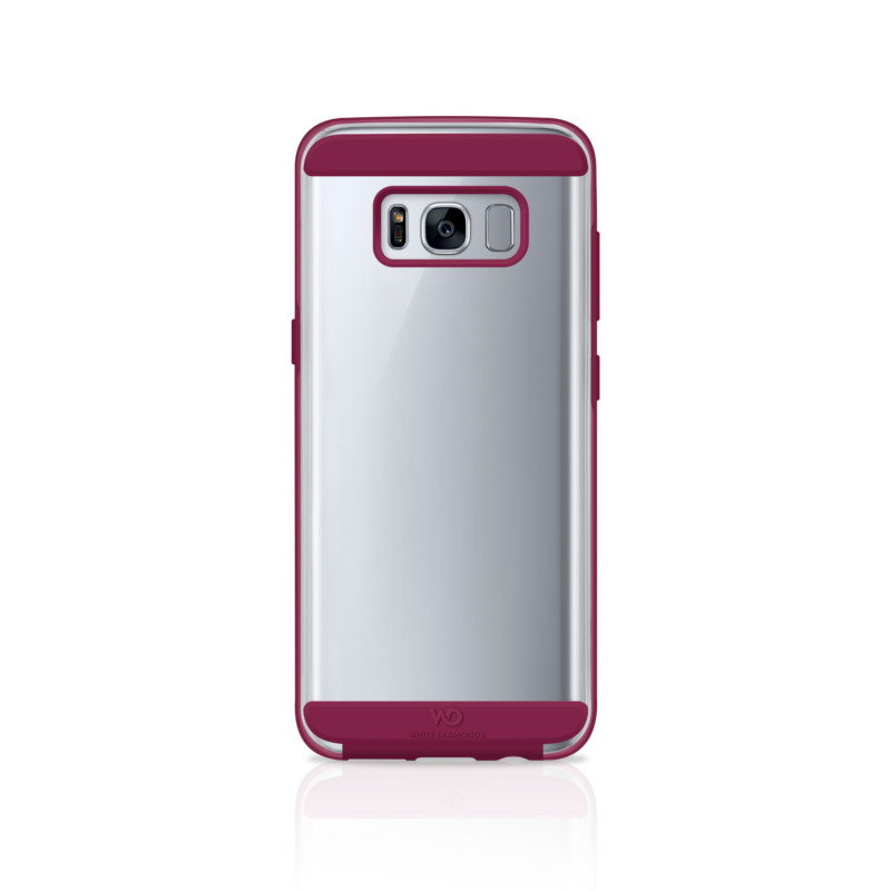 Original White Diamonds Samsung Galaxy S8 Innocence Clear Case / French Burgundy