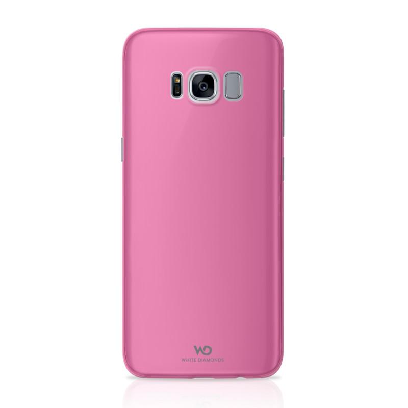 Original White Diamonds Samsung Galaxy S8 Ultra Thin Iced Case Transparent Pink