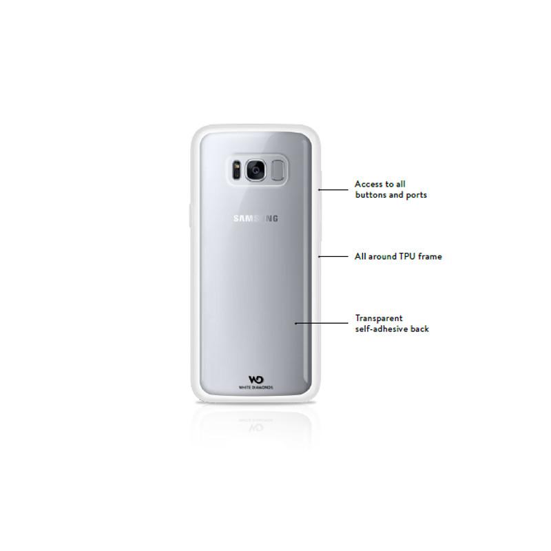 Original White Diamonds Pin-It Case Galaxy S8 Kiss